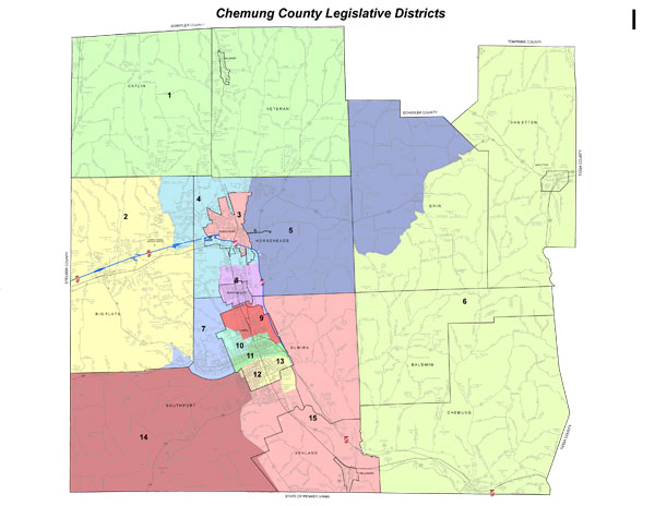 Chemung County Tax Map District Legislative Map